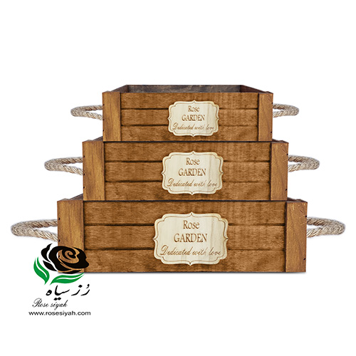باکس گل چوبی